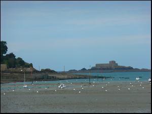 La plage à Dinard